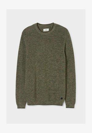 Pullover - dark green melange