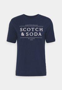 SHORT SLEEVE LOGO TEE - Print T-shirt - navy