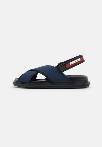 FUSSBETT - Sandals - blublack/goji