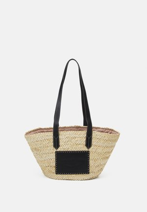POLLYBORSA - Shopping bag - naturale/nero