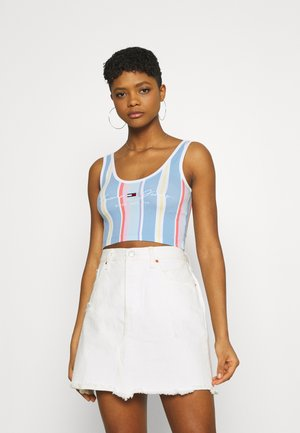 STRIPE CROP - Top - light powdery blue