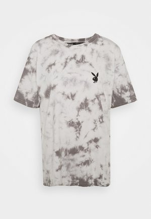 PLAYBOY TIE DYE OVERSIZED - Print T-shirt - charcoal