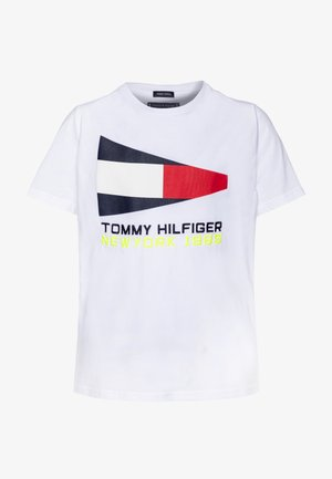 FLAG SAILING GEAR TEE - T-shirt z nadrukiem - white