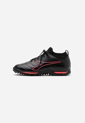 BRASIL ELITE TF - Astro turf trainers - black/red fluo