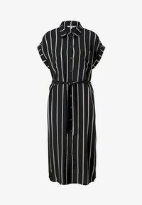 black beige vertical stripe