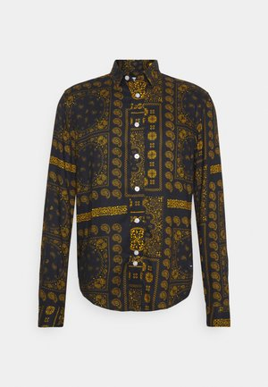 PAISLEY OVERSHIRT - Shirt - black/ gold