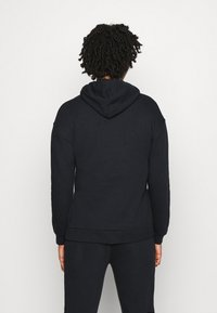 Even&Odd - OVERSIZED HOODIE WITH POCKETS AND SIDE SLITS - Hoodie - black - 2