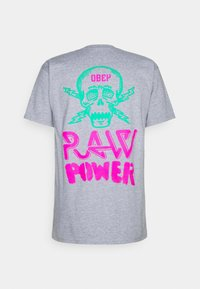 Obey Clothing - RAW POWER NEON - Printtipaita - heather grey - 1