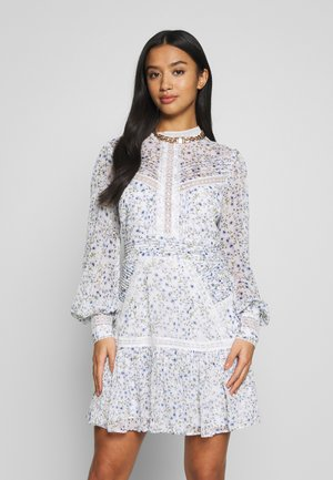 MADDISON TRIM SPLICE DRESS - Denní šaty - white