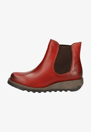 Wedge Ankle Boots - red