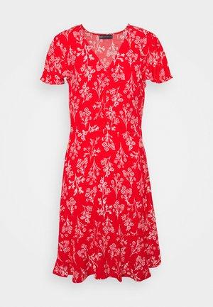 SKATER MINI DRESS - Day dress - red