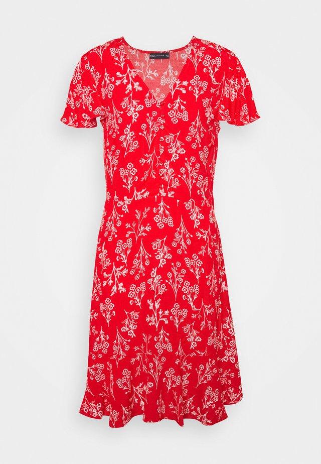 SKATER MINI DRESS - Sukienka letnia - red