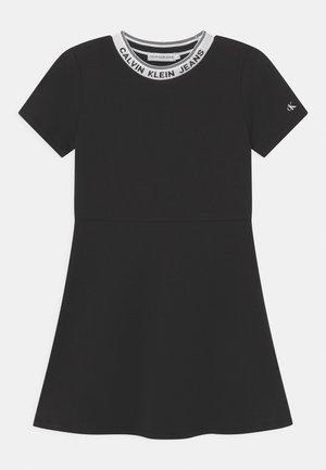 INTARSIA LOGO SKATER - Day dress - black