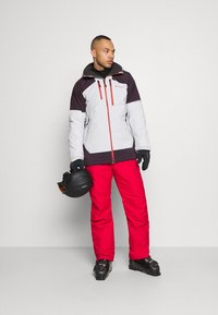 Columbia - WILD CARDJACKET - Snowboard jacket - nimbus grey/dark purple - 1
