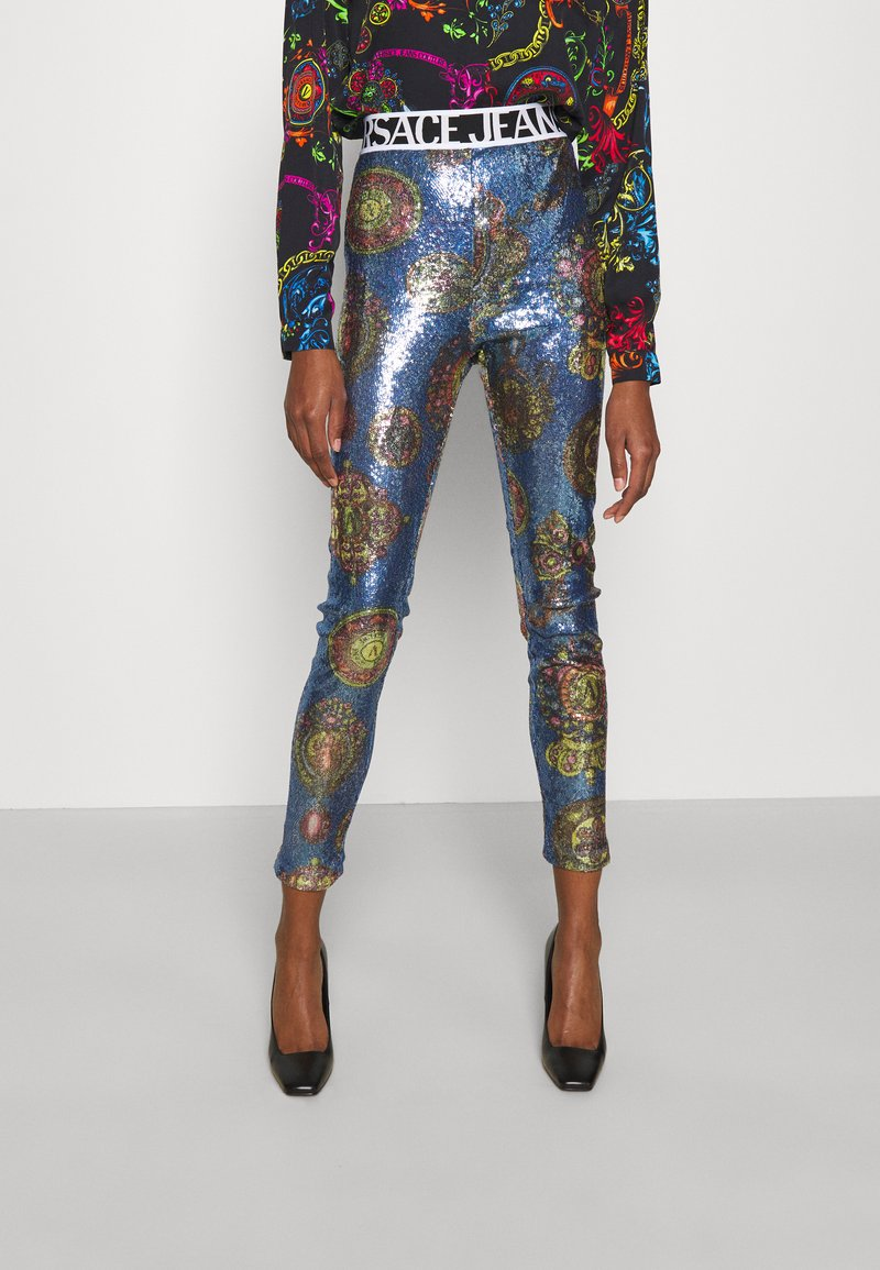 Versace Jeans Couture - PANTS - Leggings - Trousers - blue