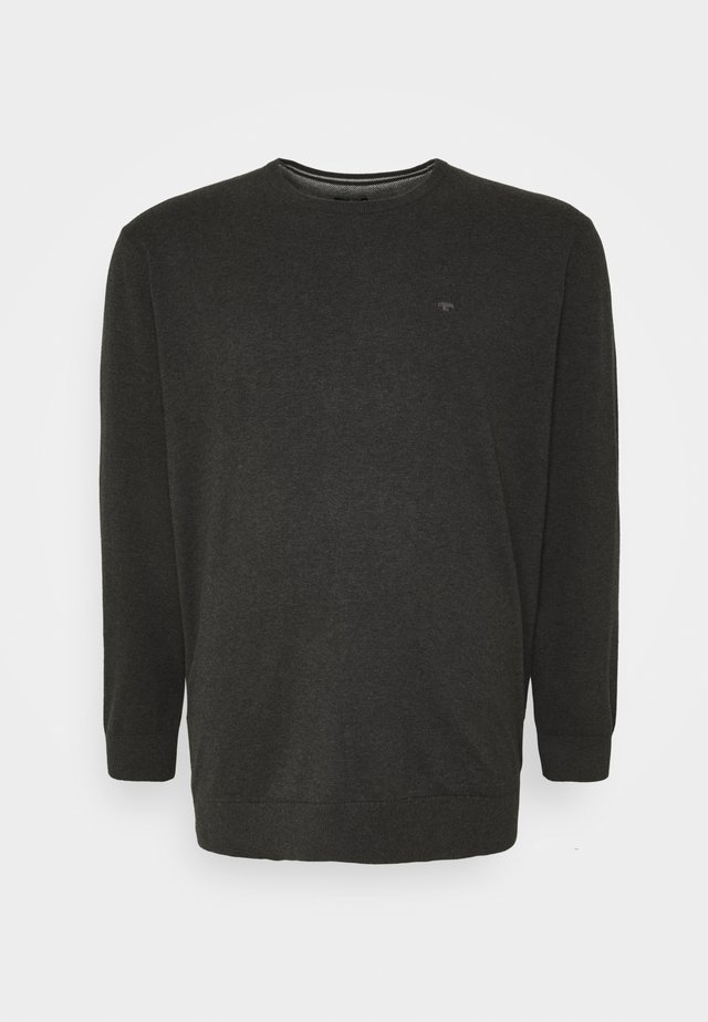 Pullover - black grey melange