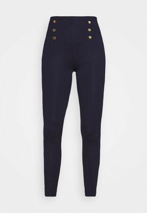 Punto leggings with button detail - Legging - dark blue