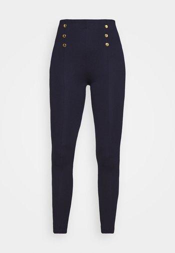 Punto leggings with button detail - Leggingsit - dark blue