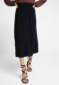 Vero Moda - VMGAEL CALF - A-line skirt - black - 0