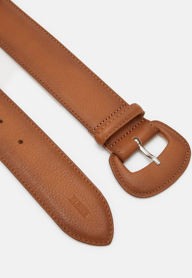 BELT SOFT BUCKLE - Belt - burned cognac