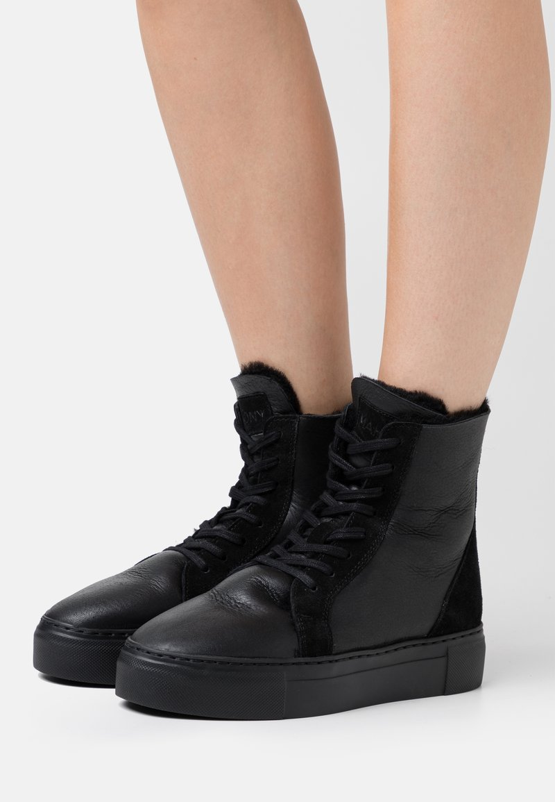 MAHONY - BERN - Lace-up ankle boots - black
