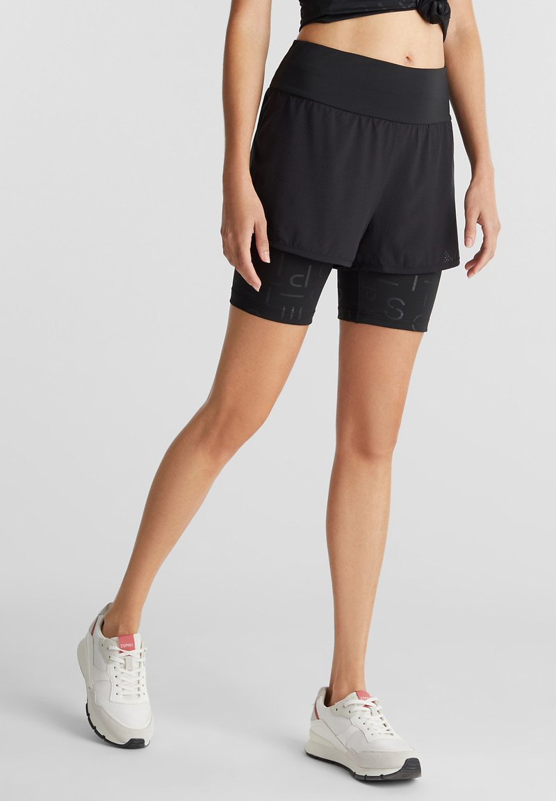 Esprit Sports - MIT E-DRY - Sports shorts - black