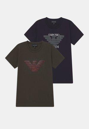 2 PACK - T-shirt print - blue navy