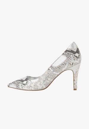 WIDE FIT ANNA - Højhælede pumps - silver