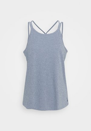 YOGA STRAPPY TANK - Sports shirt - diffused blue/diffused blue