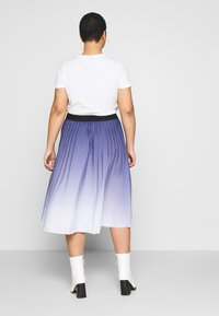 MY TRUE ME TOM TAILOR - PLEATED MIDI SKIRT - A-line skirt - real navy blue - 2