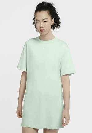 Jersey dress - barely green white