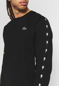 Lacoste Sport - TAPERED - Collegepaita - black/silver chine - 4