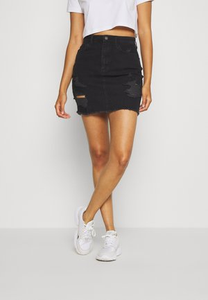 DESTROY - Denim skirt - black