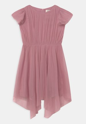GATHERED DRESS WITH HANKY HEM - Cocktailjurk - aurora pink