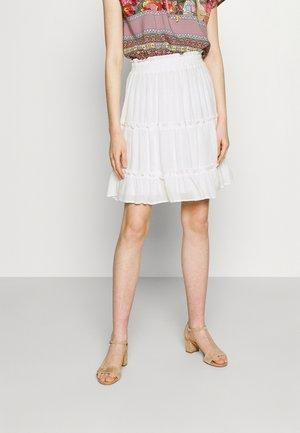 VISEL FESTIVAL RUFFLE SKIRT - A-line skirt - snow white