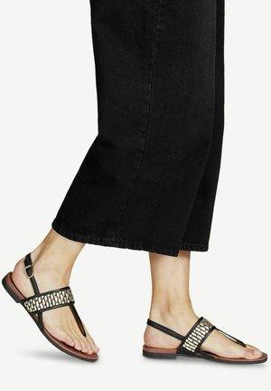 T-bar sandals - black/lt.gold