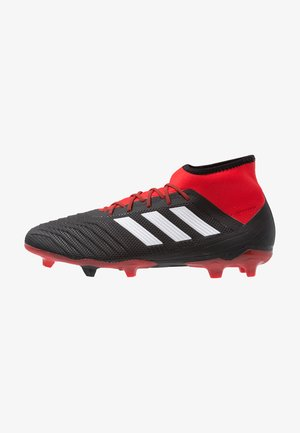 PREDATOR 18.2 FG - Moulded stud football boots - core black/footwear white/red