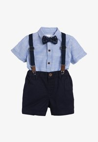Next - BLUE SHIRT, SHORTS, BOW TIE AND BRACES SET (3MTHS-7YRS) - Shirt - blue - 0