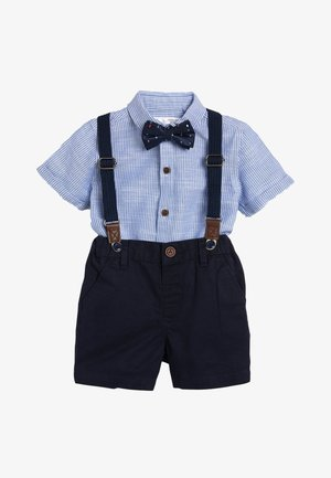 BLUE SHIRT, SHORTS, BOW TIE AND BRACES SET (3MTHS-7YRS) - Košile - blue