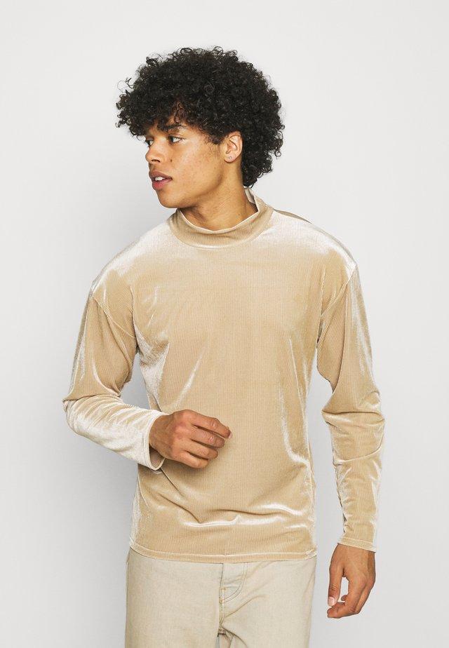 MOCK NECK LONGSLEEVE  - Bluza - beige