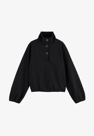 ANORAK WITH SPECIAL BUTTONS - Sweatshirt - black