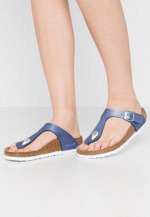 GIZEH - T-bar sandals - icy metallic/azure blue