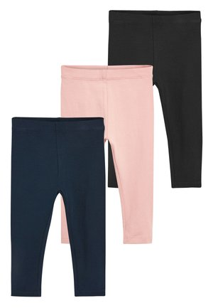 PINK/NAVY 3 PACK BASIC LEGGINGS (3MTHS-7YRS) - Leggings - Trousers - pink