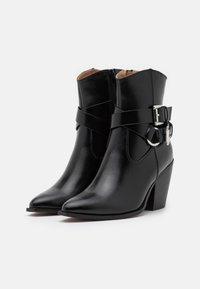 ONLY SHOES - ONLBLAKE STRAP BOOT - Korte laarzen - black - 2