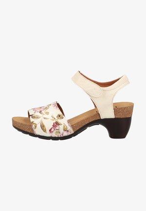 Sandály na platformě - ivory/kombi