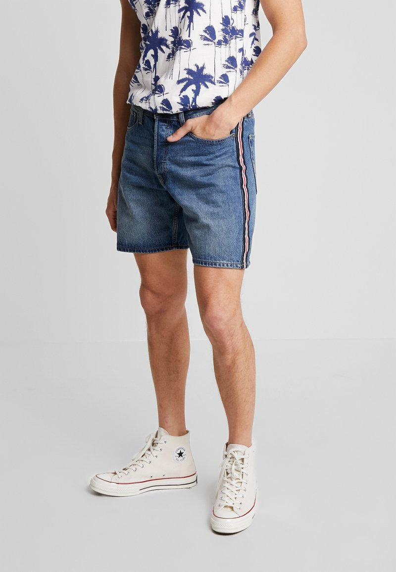 Jack & Jones - JJICHRIS JJORIGINAL - Shorts di jeans - blue denim