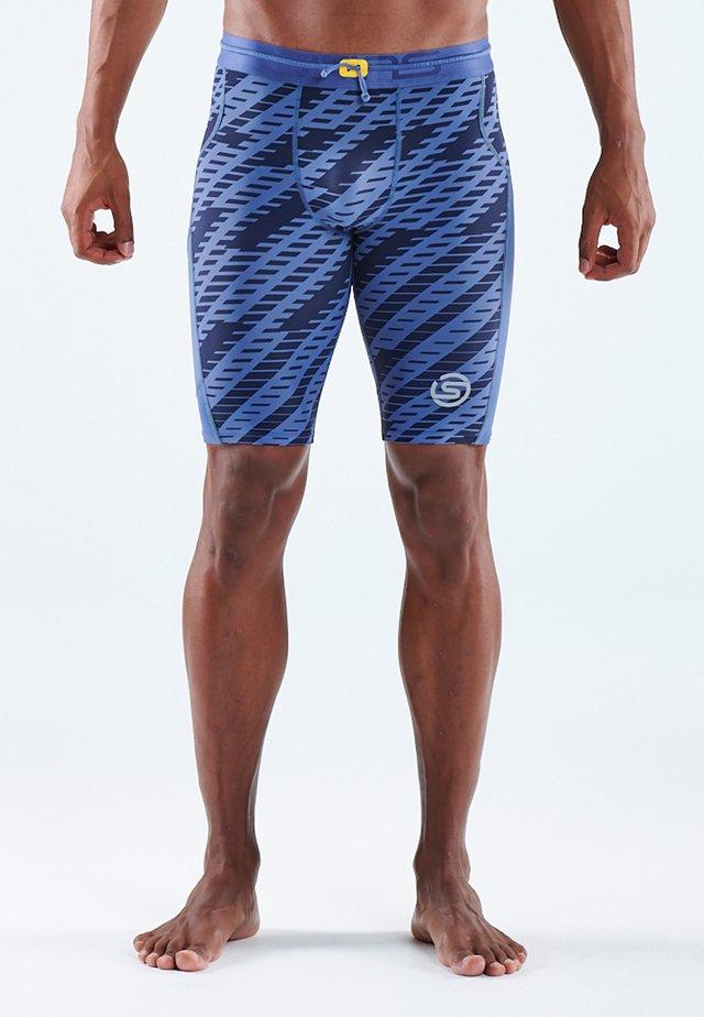 Leggings - blue geo print
