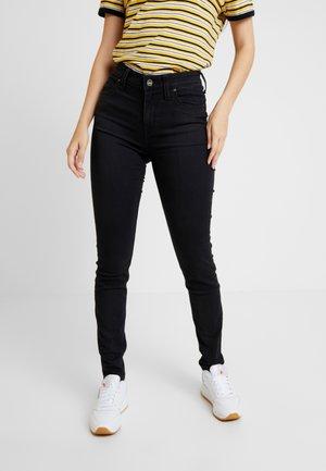 SCARLETT HIGH BODY OPTIX - Jeans Skinny Fit - black out