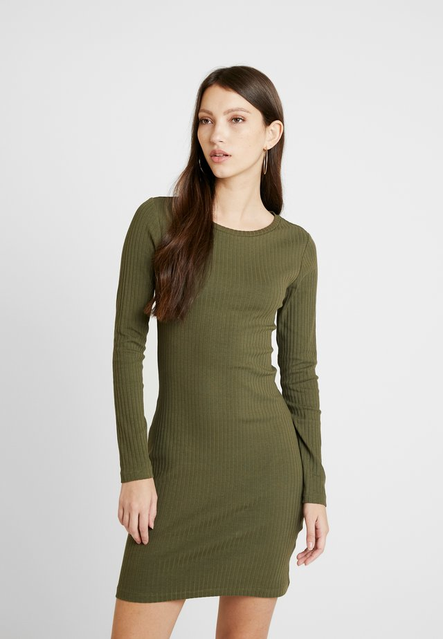 JERSEYKLEID BASIC - Shift dress - khaki