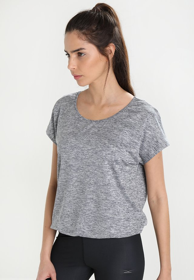RIAMEE  - Basic T-shirt - mottled dark grey